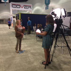WWYW founder Jillian Pritchard Cooke being interviewed at 2016 Greenbuild